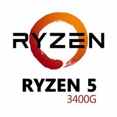 AMD AM4 RYZEN 5 3400G 3.7 A 4.2GHZ 6MB 4C8T 65W VE11 BOXOE