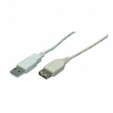 CABO EXTENSOR HQ 50960 USB TIPO A MACHO FÊMEA 1.8M CINZA