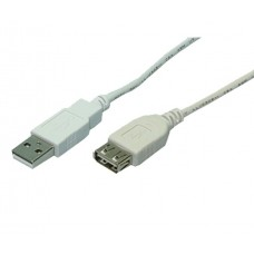 CABO LOGILINK CU0011 USB2 TIPO A M/F 3M