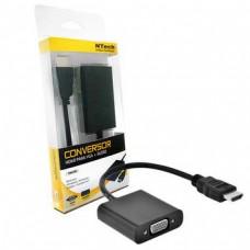 CABO CONVERSOR NTECH NBA300L HDMI A MACHO VGA FÊMEA 25CM PRETO