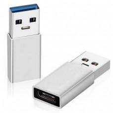 ADAPTADOR USB TIPO A M PARA USB TIPO C F , SILVER